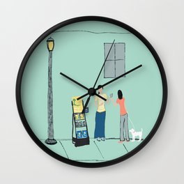 At the Cart Wall Clock