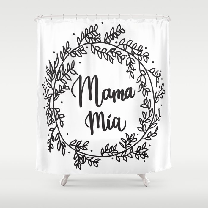 MAMA MIA Handlettering Quote Shower Curtain