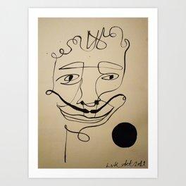 oneline Art Print