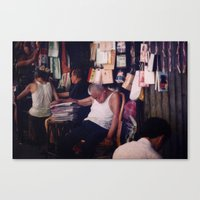 hong kong Canvas Prints featuring Hong Kong by KunstFabrik_StaticMovement Manu Jobst