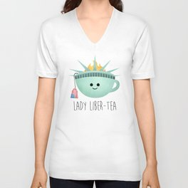 Lady Liber-tea Unisex V-Neck