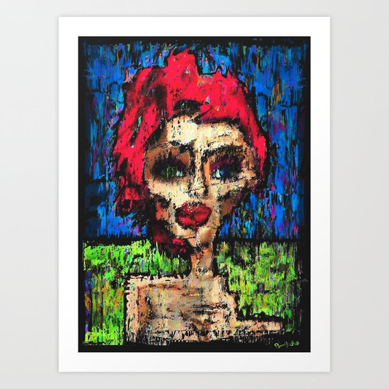 Ladee Grrdiver was a Sirviver (sik) Art Print