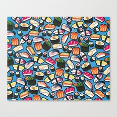 Sushi Blue Canvas Print