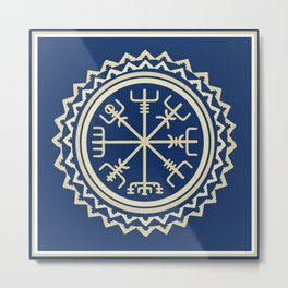 Viking Vegvisir Compass Metal Print