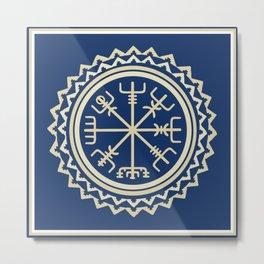 Viking Vegvisir Compass Metal Print