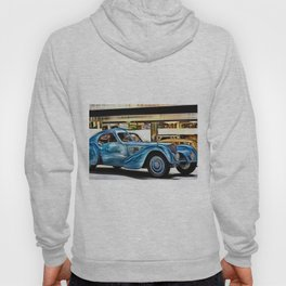 Vintage 1938 French Model Type 57 Atlantic Sports Coupe Painting Hoody