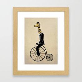 Penny Farthing Giraffe Framed Art Print