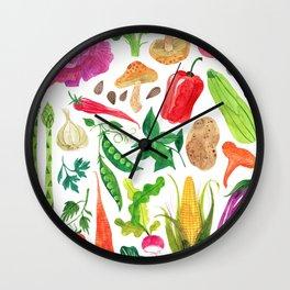VEGGIES Wall Clock