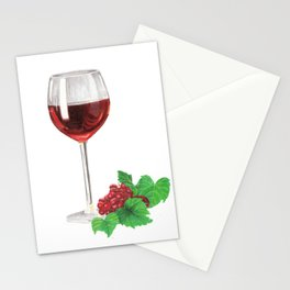 Wine and grapes Stationery Cards