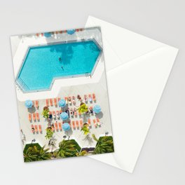miami hotel aerial view Stationery Cards