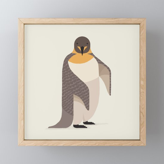 Whimsical Emperor Penguin by theprintedsparrow