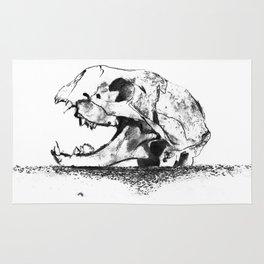 mittens - cat skull Rug