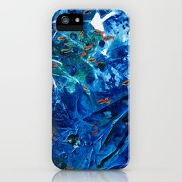 Rainbow Fish Swim, Environmental Tiny World Collection iPhone Case