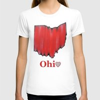ohio state T-shirts featuring Ohio State Love by Fischer Fine Arts