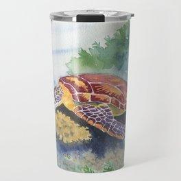 Sea Turtle and Friends Travel Mug