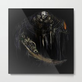Gravelord Nito - Dark Souls (black tee PNG edition) Metal Print