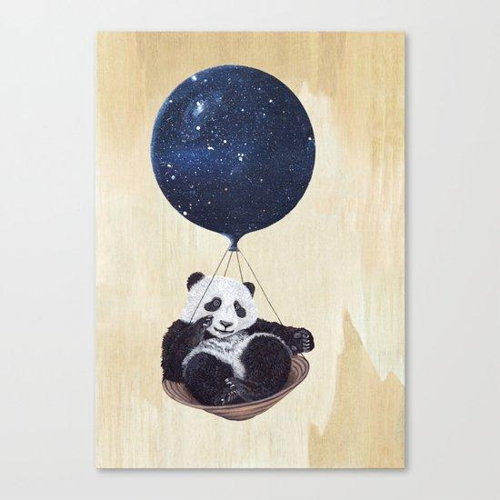 Panda in space Canvas Print
