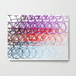 Bicycles palette Metal Print