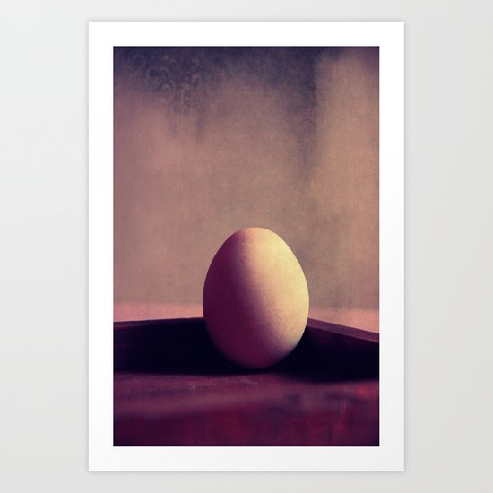 just one egg Art Print
