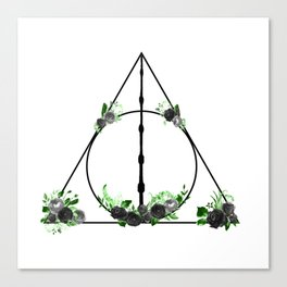 Deathly Hallows in Green and Gray Canvas Print