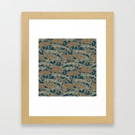 Fish Pattern Framed Art Print