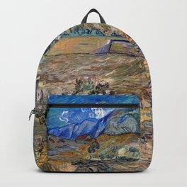 Vincent Van Gogh - Landscape at Saint Remy Backpack