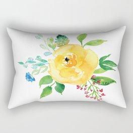 Yellow Floral Bunch Rectangular Pillow