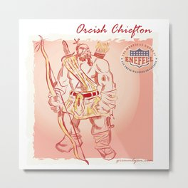 Orcish Chiefton Metal Print