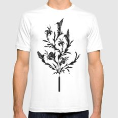 Fluid Bloom Mens Fitted Tee White MEDIUM