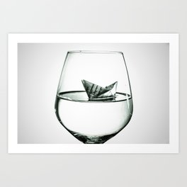sea in the glass Art Print