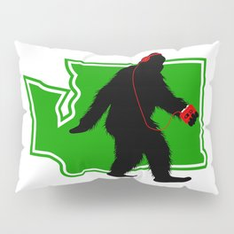 Bigfoot walk in Washington Pillow Sham