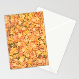 Autumnal leaves watercolor painting #6 Stationery Cards