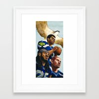 seahawks Framed Art Prints featuring Seahawks by Chad Gowey