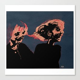 Two Old Supermodels  Canvas Print