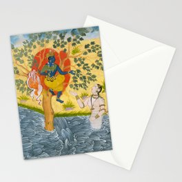 Page from a Bhagavata Purana - Krishna Indian Art Stationery Cards