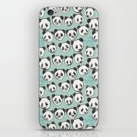 pandas iPhone & iPod Skins featuring Pandas by Abby Galloway