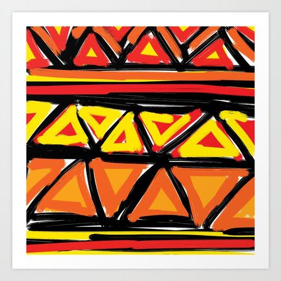 Hot Triangles Art Print