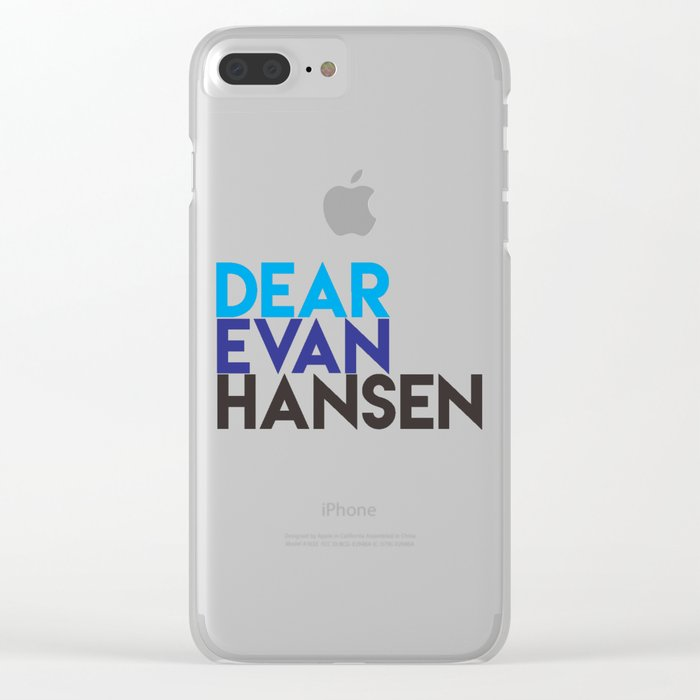 Dear Evan Hansen Clear iPhone Case