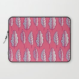 Pink Leaves Abstract Decorative Pattern Laptop Sleeve
