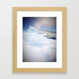 Leaving on a jet plane Framed Art Print