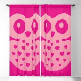 Cute Pink Baby Owl Blackout Curtain