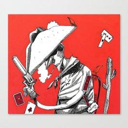 Cowboy (Volatile) Canvas Print