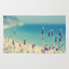 beach - lavender blues Rug