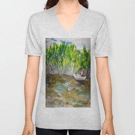 Florida Mangrove Tea Water in the Everglades Unisex V-Neck