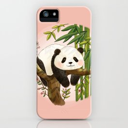 Panda under sunlight - Pink iPhone Case