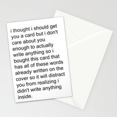 the lazy greeting card Stationery Cards