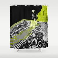 shadow Shower Curtains featuring shadow by Cenk Cansever