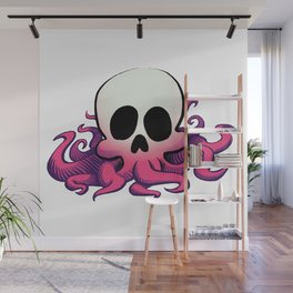 Squid Skull Wall Mural