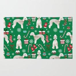 Bedlington Terrier christmas dog pattern gifts dog breed pet friendly design Rug
