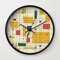 mid century modern Wall Clocks featuring Mid-Century Modern by Studio Fibonacci